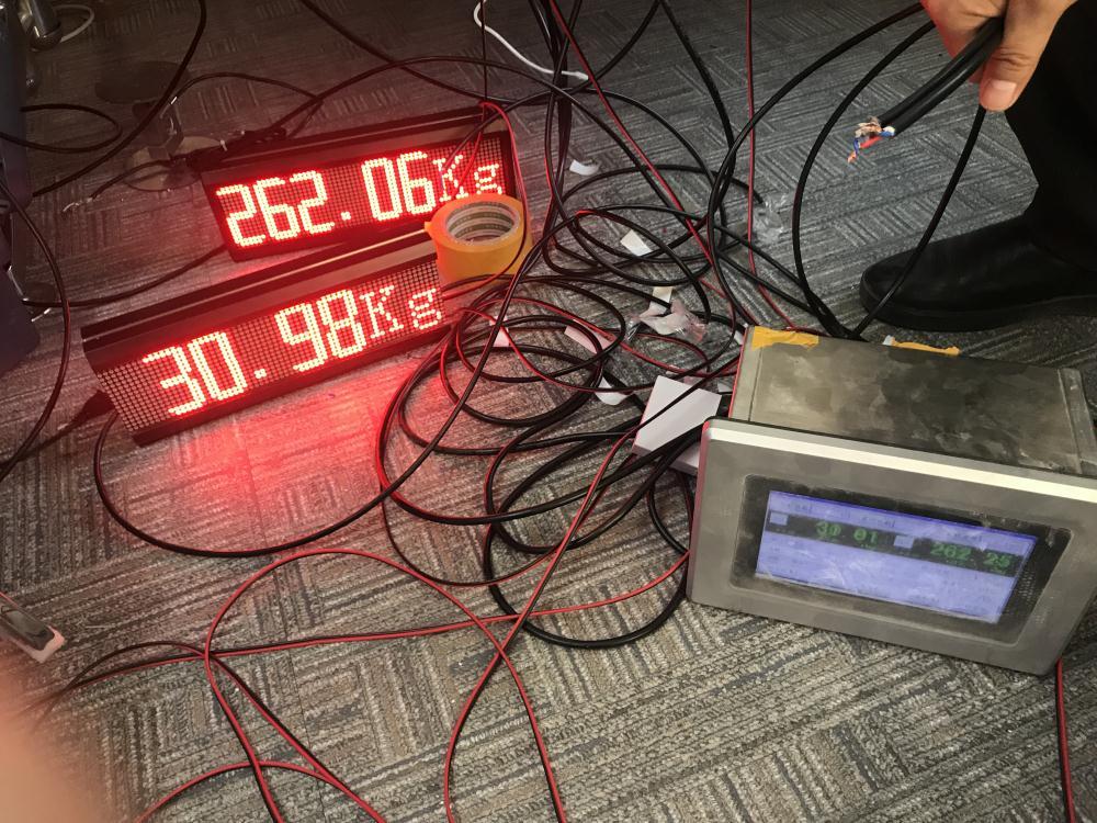 电子秤外接屏一对二显示不同重量