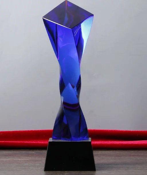 扭柱水晶奖杯