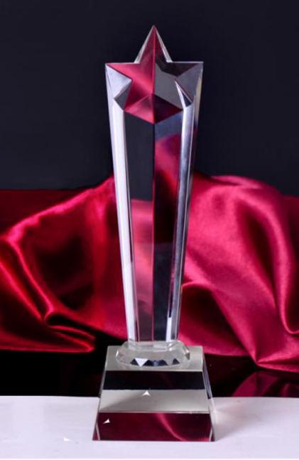 五角星水晶奖杯