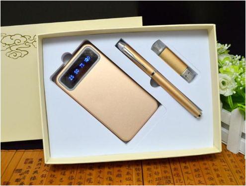 套装礼品-电源+笔+两用优盘