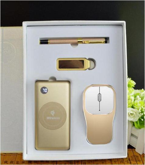套装礼品-电源+U盘+笔+可充电鼠标