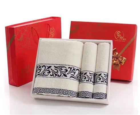 纯棉国风三件套巾