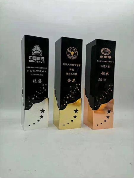 水晶奖杯订制-中国重汽