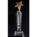 三明水晶奖杯-第一名