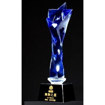龍巖水晶獎杯定制-舞魅之星