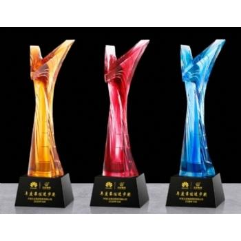 深圳水晶獎杯-勝利之鷹