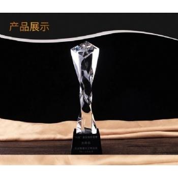 广州水晶奖杯定制-四方扭柱