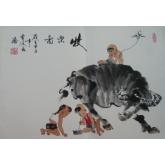 牧乐图-曹凌云国画