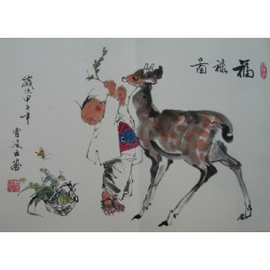 福禄图-曹凌云国画