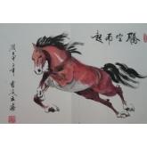 戏马图-曹凌云国画