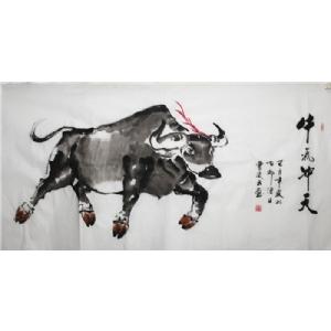 牛气冲天图-曹凌云国画
