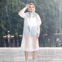 Moge成人户外雨衣男女士款非一次性弹力帽檐雨披徒步便携旅行雨披