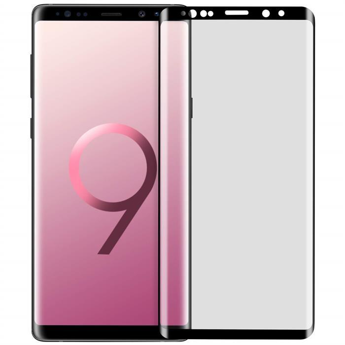 产品名称:三星Note9手机玻璃钢化贴膜 0.25mm纤薄 3D曲面全屏贴合 Samsung Galaxy Note 9 3D曲面全屏玻璃膜 日本旭硝子材质 9H 高透 防爆保护膜 (全屏版/缩小版皮套专用/3D内缩版)