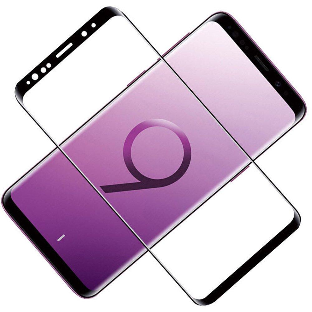 产品名称:三星S9+钢化膜 全屏曲面 SAMSUN 防爆膜 耐用防划 S9 Plus 手机膜 手机屏幕保护膜 3D超清晰9H硬度 无气泡 圆边设计 附带透明壳碳纤维后膜 适用于三星S9 Plus(三星S9 6.2寸, 标准全屏版)