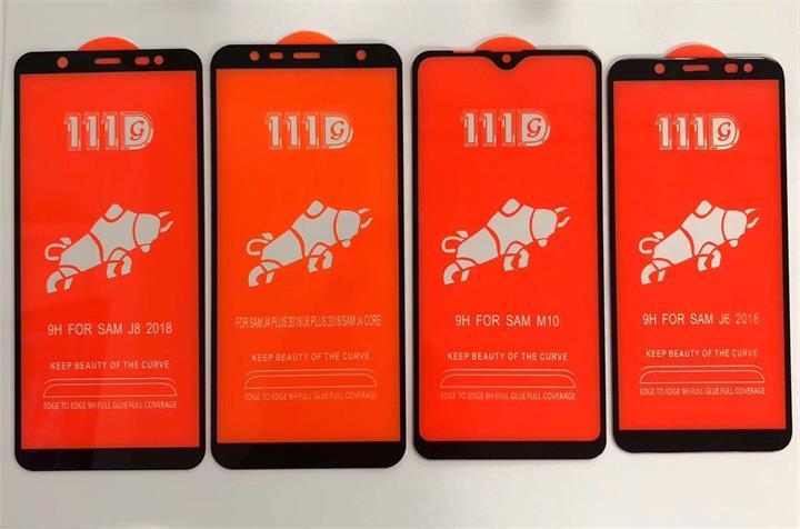 三星M10全屏大弧满屏111D二强丝印手机贴膜钢化玻璃屏幕防爆保护膜