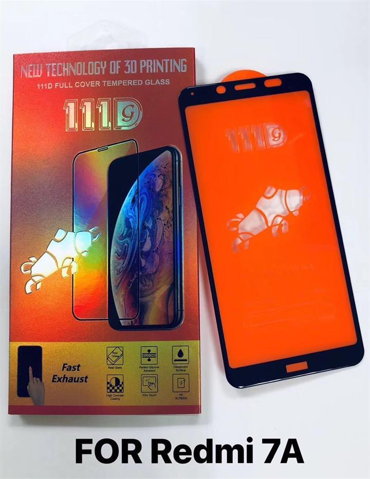 红米7A全屏大弧满屏111D二强丝印手机贴膜钢化玻璃屏幕防爆保护膜