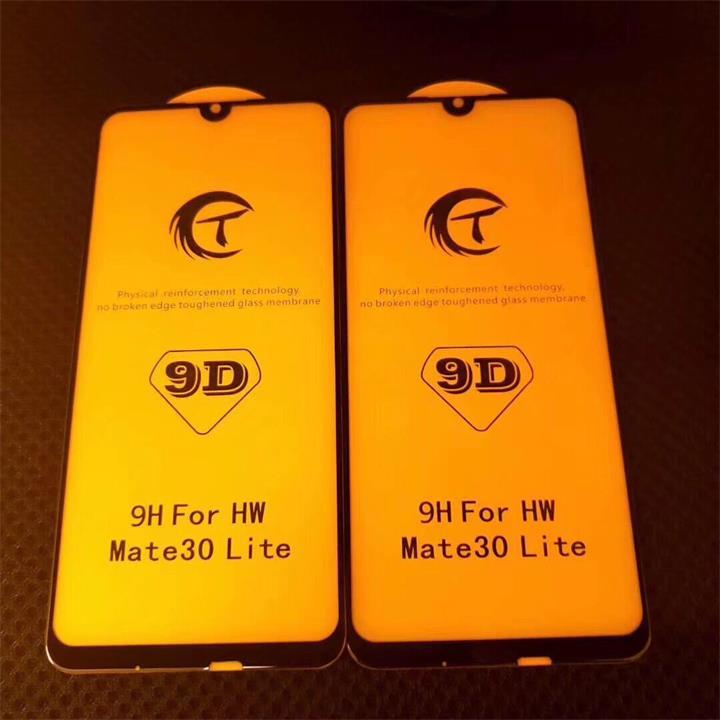 华为Mate30Lite全屏大弧满屏9D二强丝印手机贴膜钢化玻璃屏幕防爆保护膜