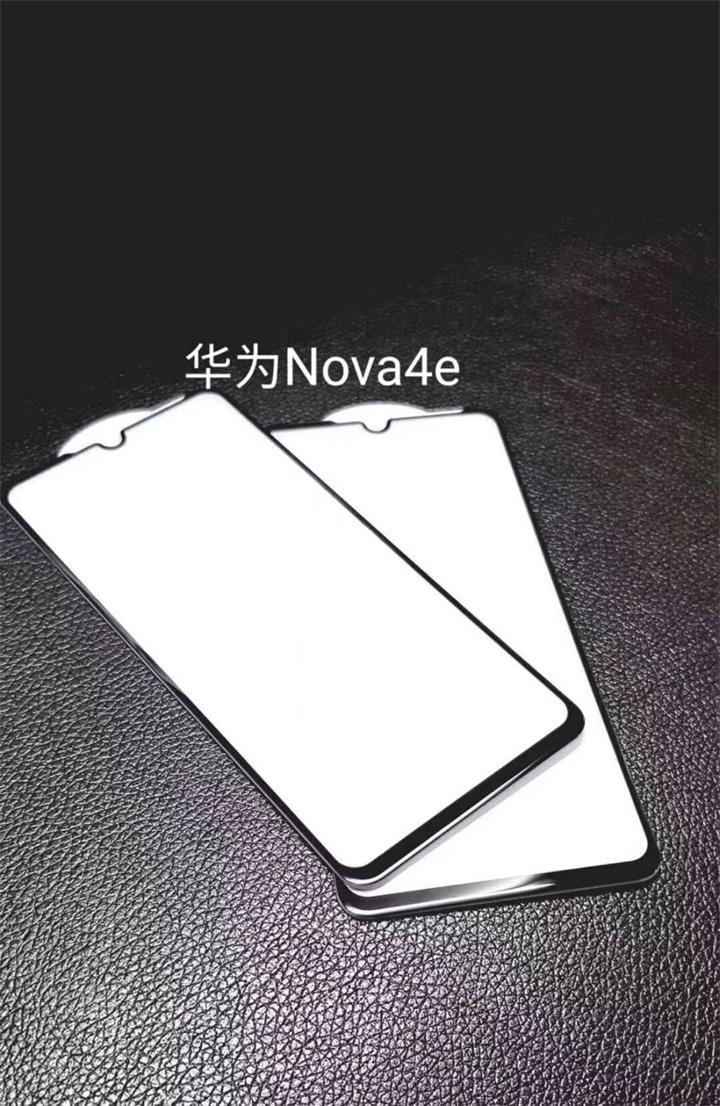 华为Nova4E无字底白板全屏大弧满屏9D二强丝印手机贴膜钢化玻璃屏幕防爆保护膜