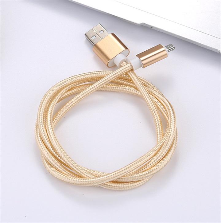 编织安卓数据线 三星小米华为通用安卓数据线 安卓2.4A快充数据线
