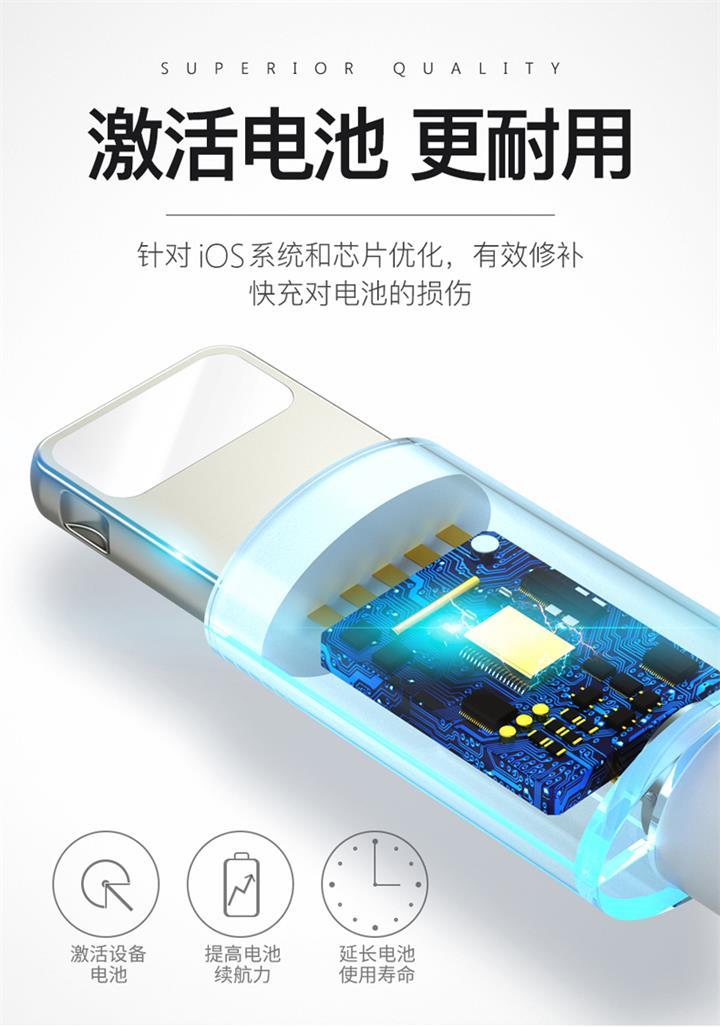 适用苹果数据线1米手机充电线原装快充编织数据线usb正品手机配件