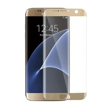 三星S7 Edge曲面钢化玻璃膜 S7手机贴膜 G9350保护膜 高透 高清 抗冲击 防爆 防指纹 0.3MM厚 (5.5寸 S7 Edge丝印全屏版,缩小版皮套专用)