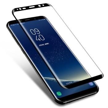 三星S9钢化膜 全屏曲面 SAMSUN 防爆膜 耐用防划 S9  手机膜 手机屏幕保护膜 3D超清晰9H硬度 无气泡 圆边设计 适用于三星S9 (三星S9 5.6寸, 标准全屏版)