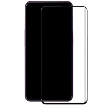 OPPO Find X标准版曲面钢化玻璃膜 全屏覆盖  Find X标准版手机贴膜 高清透保护膜 弧边 防爆 防指纹 抗冲击9H硬度 (OPPO Find X标准版,全屏覆盖深邃黑)