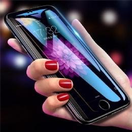 苹果iPhone6/4.7全屏9D二强丝印大弧满屏9D二强丝印手机贴膜钢化玻璃防爆膜 耐用防划保护膜 9H硬度 圆弧设计 全吸附