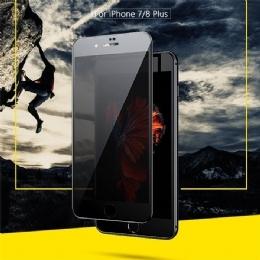 苹果iPhone7P/8P/5.5全屏9D二强丝印大弧满屏9D二强丝印手机贴膜钢化玻璃防爆膜 耐用防划保护膜 9H硬度 圆弧设计 全吸附