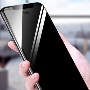 iPhoneX/XS5.8防窥全屏大弧满屏2.5D二强丝印手机贴膜钢化玻璃屏幕防爆保护膜