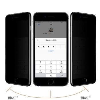 iPhone7/8P/5.5防窥全屏大弧满屏2.5D二强丝印手机贴膜钢化玻璃屏幕防爆保护膜
