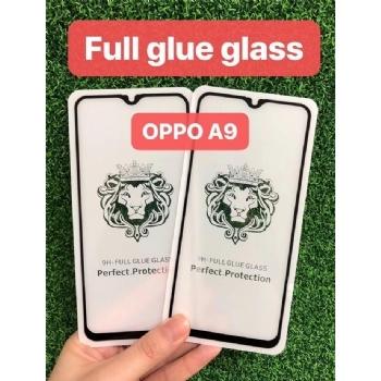 OPPO a9狮子头全屏二强丝印手机贴膜钢化玻璃屏幕防爆保护膜