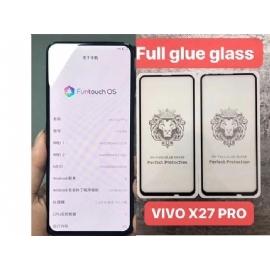 VIVO X27PRO狮子头狮子头全屏大弧满屏二强丝印钢化玻璃屏幕保护防爆膜
