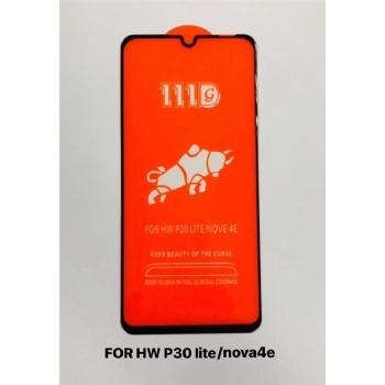 华为p30lite/NOVE 4E全屏大弧满屏111D二强丝印手机贴膜钢化膜