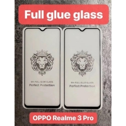 OPPOREAIME3PRO狮子头全屏大弧满屏9D二强丝印钢化玻璃屏幕保护防爆膜