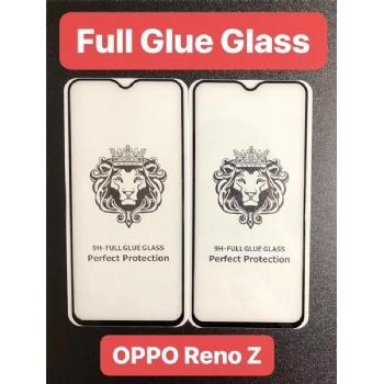 OPPO Reno Z狮子头全屏大弧满屏二强丝印手机贴膜钢化玻璃屏幕防爆保护膜