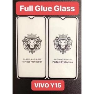VIVO Y15狮子头全屏大弧满屏二强丝印手机贴膜钢化玻璃屏幕防爆保护膜