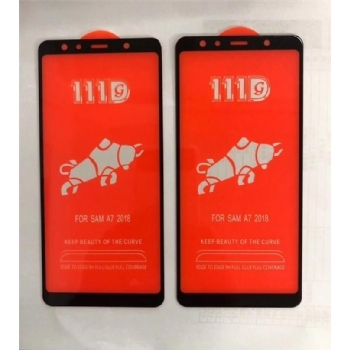 三星A7-2018全屏大弧满屏111D二强丝印手机贴膜钢化玻璃屏幕防爆保护膜