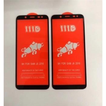 三星J6-2018全屏大弧满屏111D二强丝印手机贴膜钢化玻璃屏幕防爆保护膜