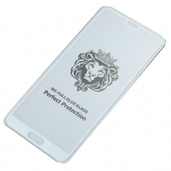 华为P20狮子头钢化膜 全屏覆盖 加强型全胶手机保护贴膜 防爆防指纹钢化玻璃膜 二强丝印手机贴膜钢化膜