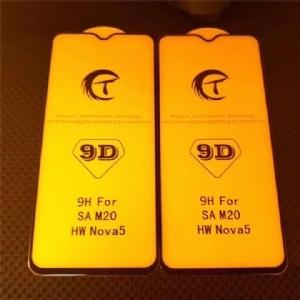华为Nova5 全屏大弧满屏9D二强丝印手机贴膜钢化玻璃屏幕防爆保护膜