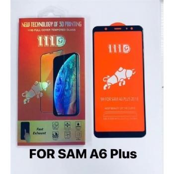 三星SAM A6 PLUS全屏大弧满屏111D二强丝印手机贴膜钢化玻璃屏幕防爆保护膜