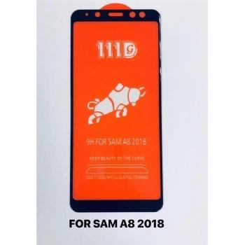 三星SAM A8 2018全屏大弧满屏111D二强丝印手机贴膜钢化玻璃屏幕防爆保护膜