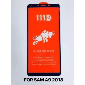 三星A9-2018全屏大弧满屏111D二强丝印手机贴膜钢化玻璃屏幕防爆保护膜