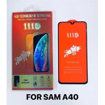 三星A40全屏大弧满屏111D二强丝印手机贴膜钢化玻璃屏幕防爆保护膜
