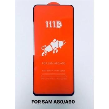 三星A80/90全屏大弧满屏111D二强丝印手机贴膜钢化玻璃屏幕防爆保护膜