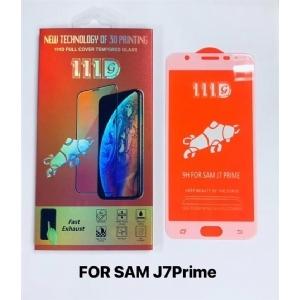 三星SAM J7P rime全屏大弧满屏111D二强丝印手机贴膜钢化玻璃屏幕防爆保护膜