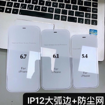 全屏透明大弧+防尘网,专为IPhone 12系列定制款