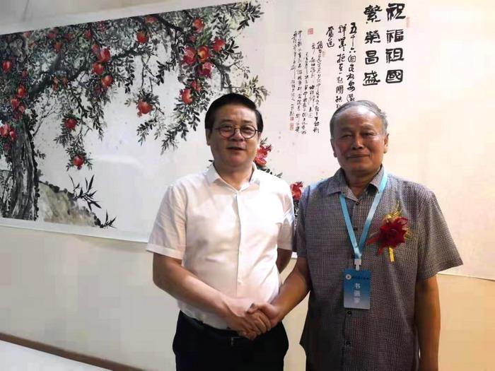 副馆长刘林贵和中美协常务副主席徐里