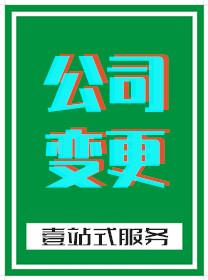 广州公司变更登记